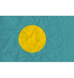 Palau paper flag vector image