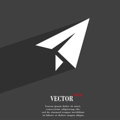 Paper airplane icon symbol Flat modern web design vector