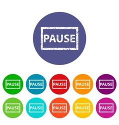 Pause flat icon vector image