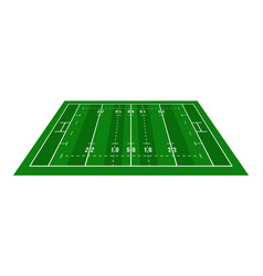 perspective green rugby field view from above vector image