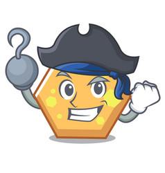 Pirate hexagon character cartoon style vector