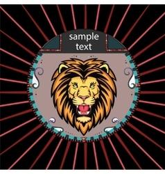 Portrait of a Lion vector image