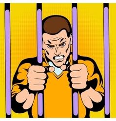 Prisoner at the jail vector image
