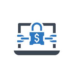 Ransomware program icon vector
