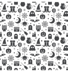 Seamless Halloween pattern vector image