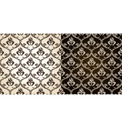 seamless vintage backgrounds black brown baroque p vector image