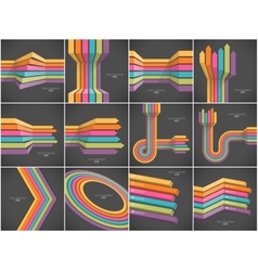 Set of colorful lines backgrounds vector image