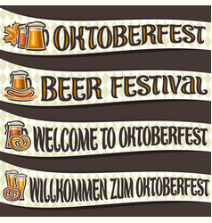 set of ribbons for oktoberfest vector image