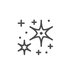 sparkling and twinkling line outline icon vector image