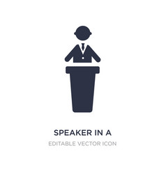 Speaker in a conference icon on white background vector