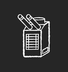 Spot cooler chalk white icon on black background vector