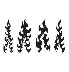 Stylish tattooes fire white background vector
