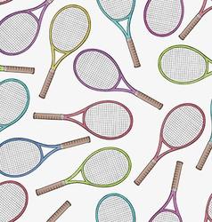 Tennis racquets seamless pattern vector