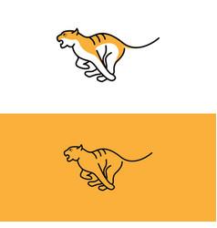 tiger logo line art logo inspiration vector image