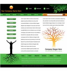 Tree man roots webpage vector