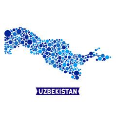 Uzbekistan map links composition vector
