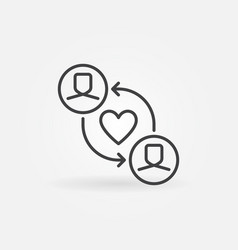 volunteer work or charity outline concept vector image