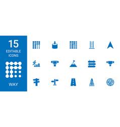 way icons vector image