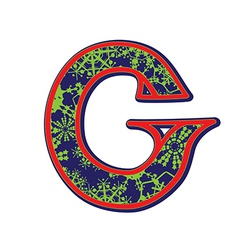 Winter letter G vector