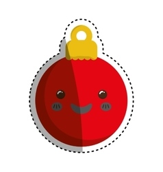 Xmas decorative ball vector