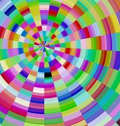 Abstract colorful mosaic glass circle vector image
