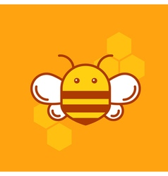 Bee thin lined icon Bumblebee logotype template vector image vector image