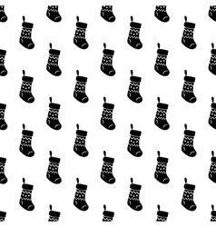 Christmas sock pattern seamless vector image