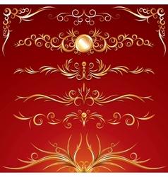 Golden Ornamental Design Elements Graphics vector image vector image