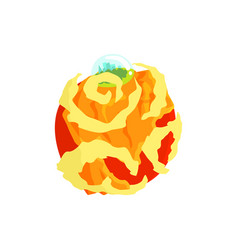 venus planet of the solar system cartoon vector image vector image