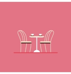 Dining table and chairs Flat style vector image vector image