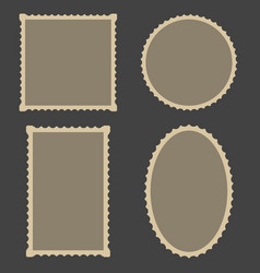 frame blank postage stamps set for frame vector image