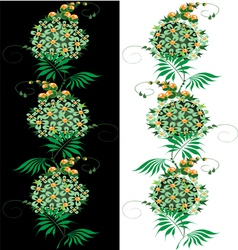 Ornament from green and yellow Flower vector image