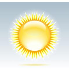 Shiny sun in the sky vector