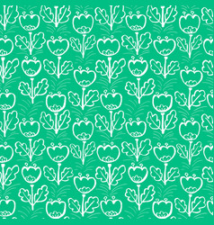 tulip flowers seamless pattern floral artistic vector image vector image
