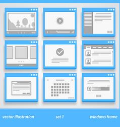 flat windows frame set 1 vector image