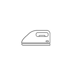 iron icon in thin outline style laundry equipment vector image
