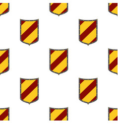 shields seamless pattern guard security logo vector image vector image