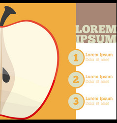 apple fruit infrographic design vector image