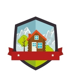 camping landscape isolated icon vector image