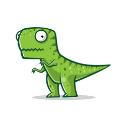 cartoon funny t-rex vector image vector image