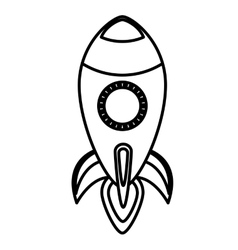 rocket toy isolated icon vector image