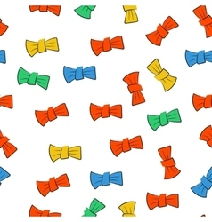 Seamless pattern with bow tie vector image vector image