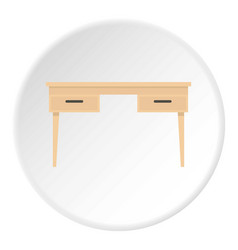 Wooden table icon circle vector