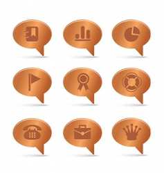 04 copper bubbles office icons vector