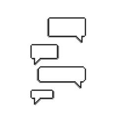 8 bit pixel dialog chat bubbles vector image