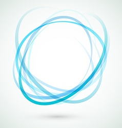 Abstract background blue circle design element vector