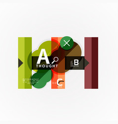 abstract geometric option infographic banners a b vector image