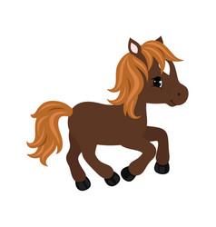 adorable cartoon horse character vector image