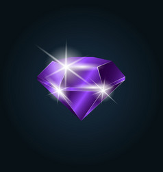 amethyst gemstone shining vector image