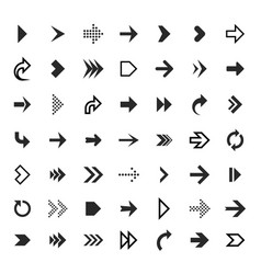 Arrows collection black arrow direction signs vector